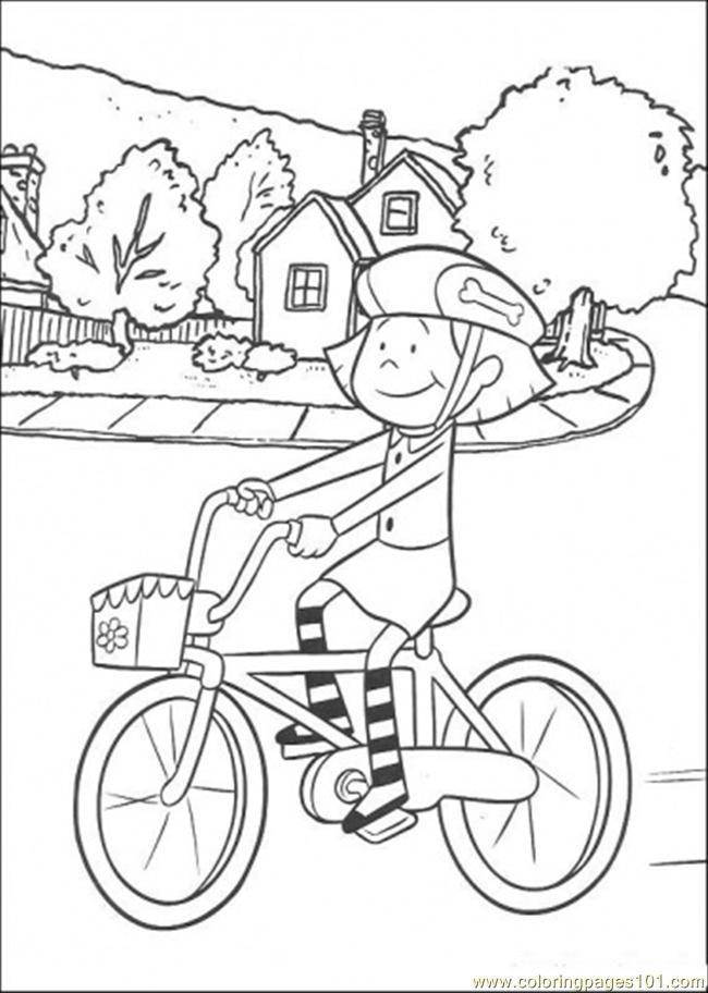 Preschool Bike Safety Coloring Pages Coloring Pages
