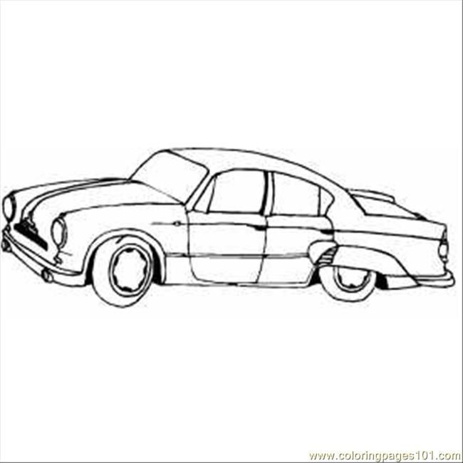 Coloring Pages Classic Car With Wings (Cartoons > Cars