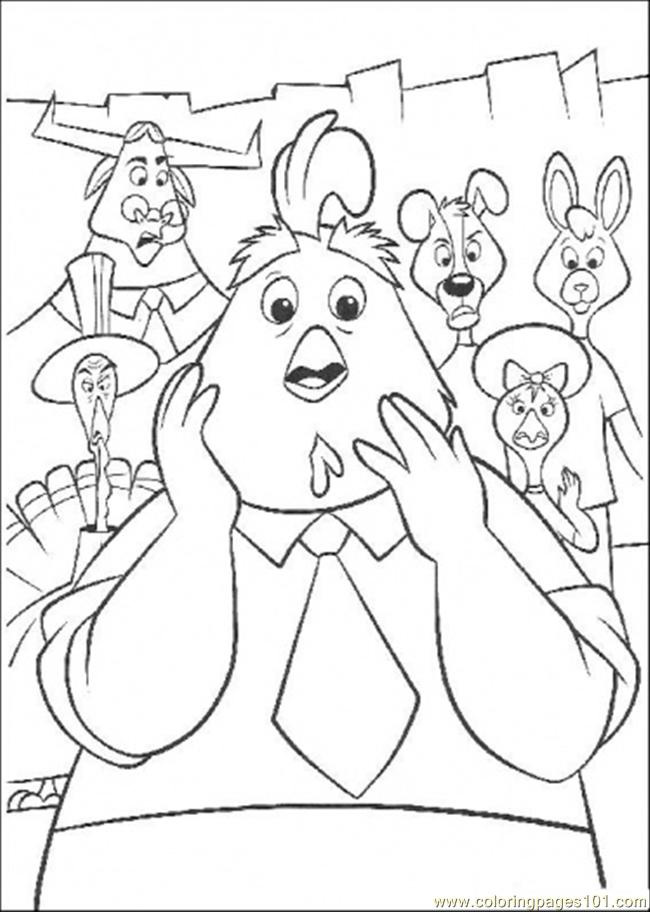 Coloring Pages No One Want To Believe Chicken Littles