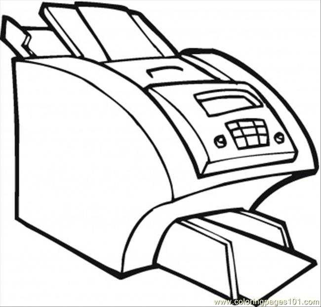 Coloring Pages Big Printer For The Office (Technology