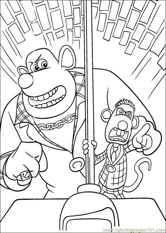 Coloring Pages Flushed Away Coloring Pages (11) (Cartoons
