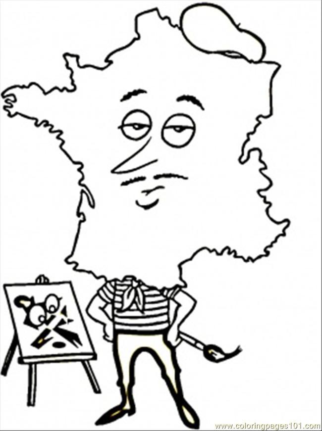 paris flag coloring pages