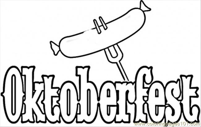 Coloring Pages Welcome To Oktoberfest (Countries > Germany