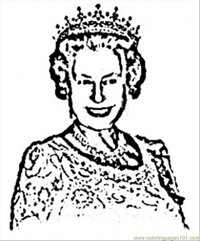 Coloring Pages Royal Queen (Countries > Great Britain