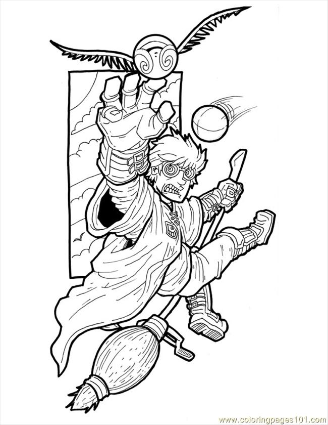 Coloring Pages Harry Potter Small (Cartoons > Harry Potter
