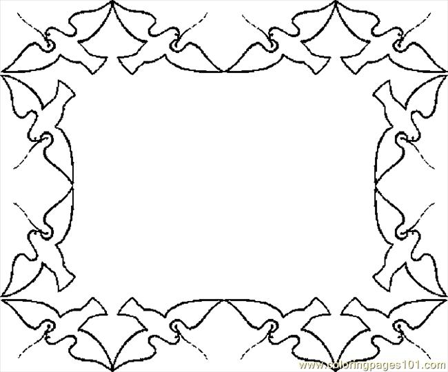 Coloring pages border food