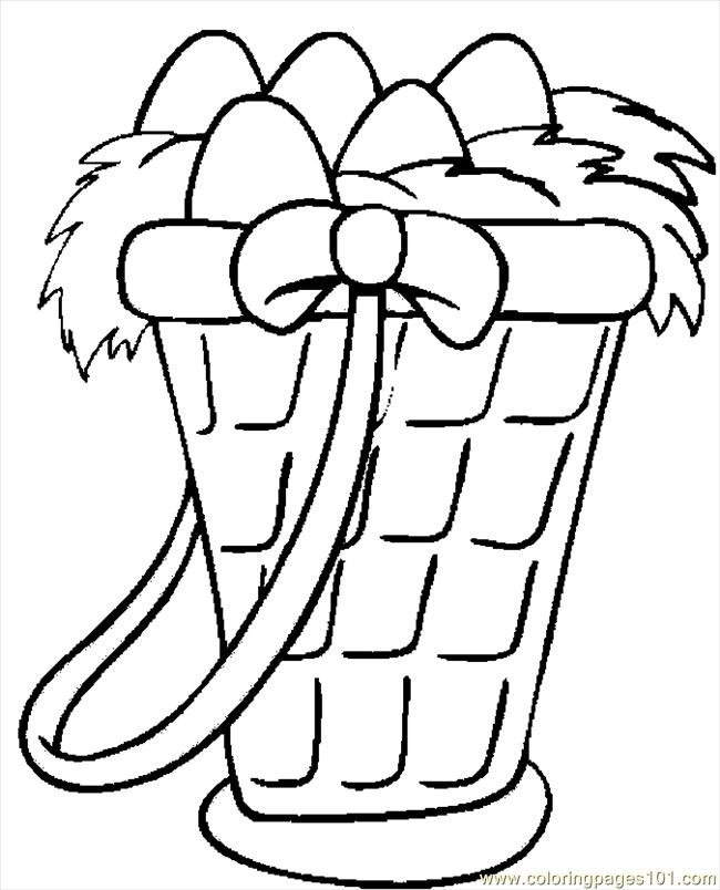 Coloring Pages Easter Basket 31 (Entertainment > Holidays