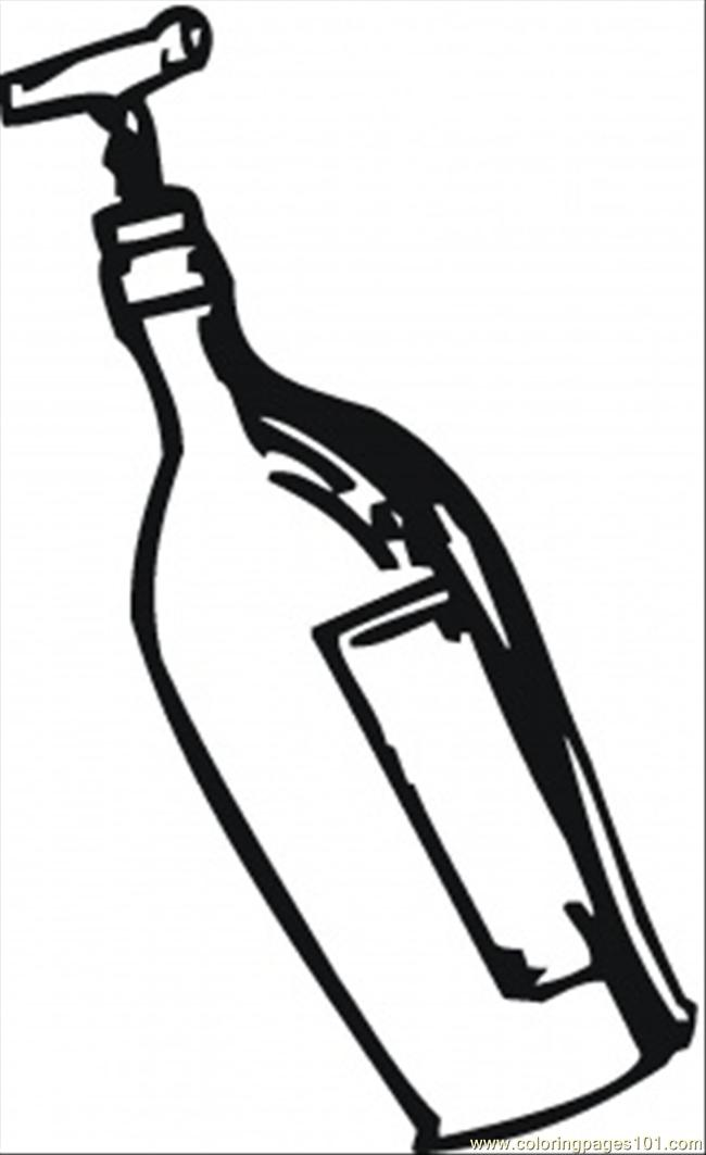 Coloring Pages Opening Wine With Corkscrew (Other