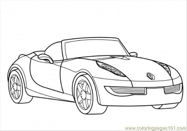 Coloring Pages Renault Wind Coloring Page (Transport