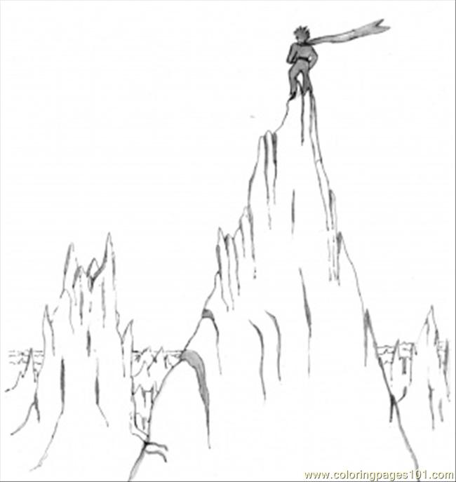 Coloring Pages Little Prince On The Mountain (Education