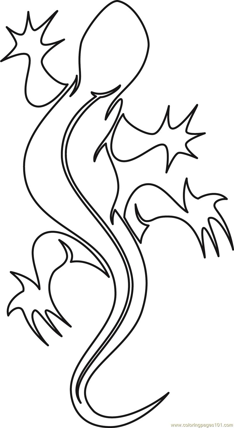 Printable Coloring Pictures Of Two Lizards Coloring Pages