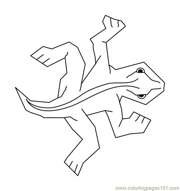 Coloring Pages Mc Escher Single Lizard Tile (Reptile