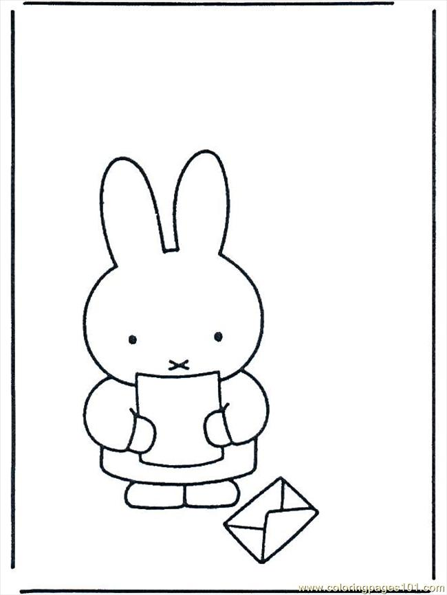 Coloring Pages Miffy Con Una Lettera B622 (Cartoons