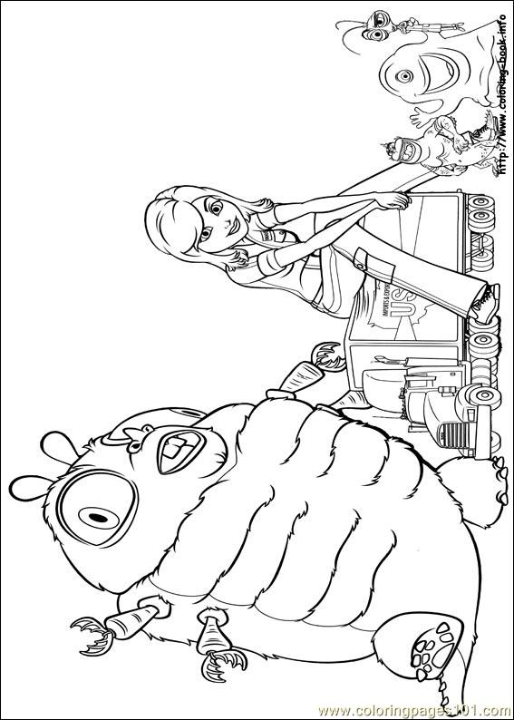 Coloring Pages Monsters Vs Aliens (3) (Cartoons > Monsters