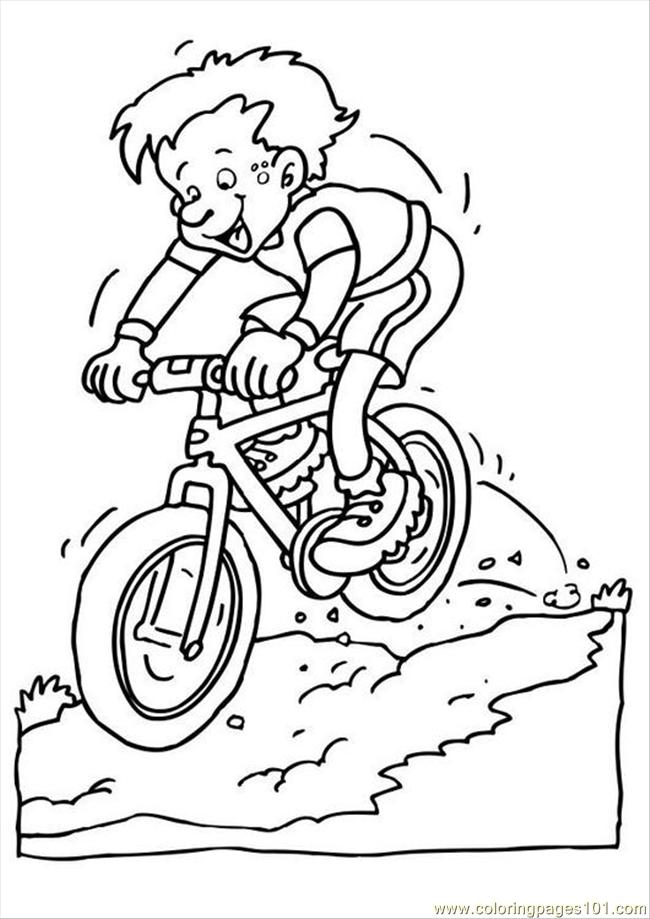 Coloring Pages Es Photo Mountain Bike P (Natural World