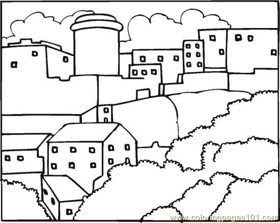 Coloring Neighborhood And Community Coloring Pages