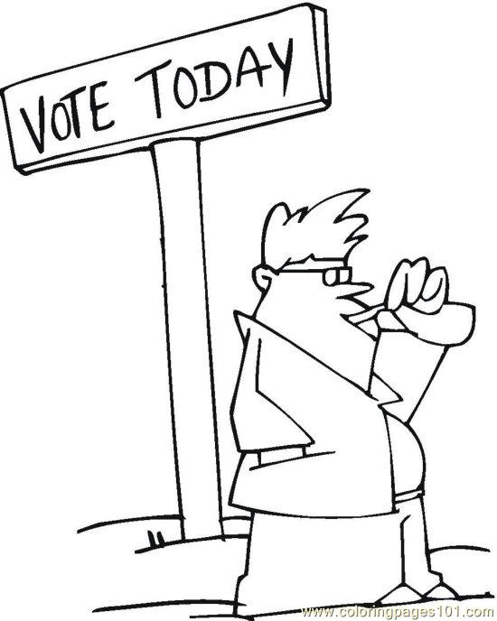 coloring pages vote (23) (peoples > politics)  free