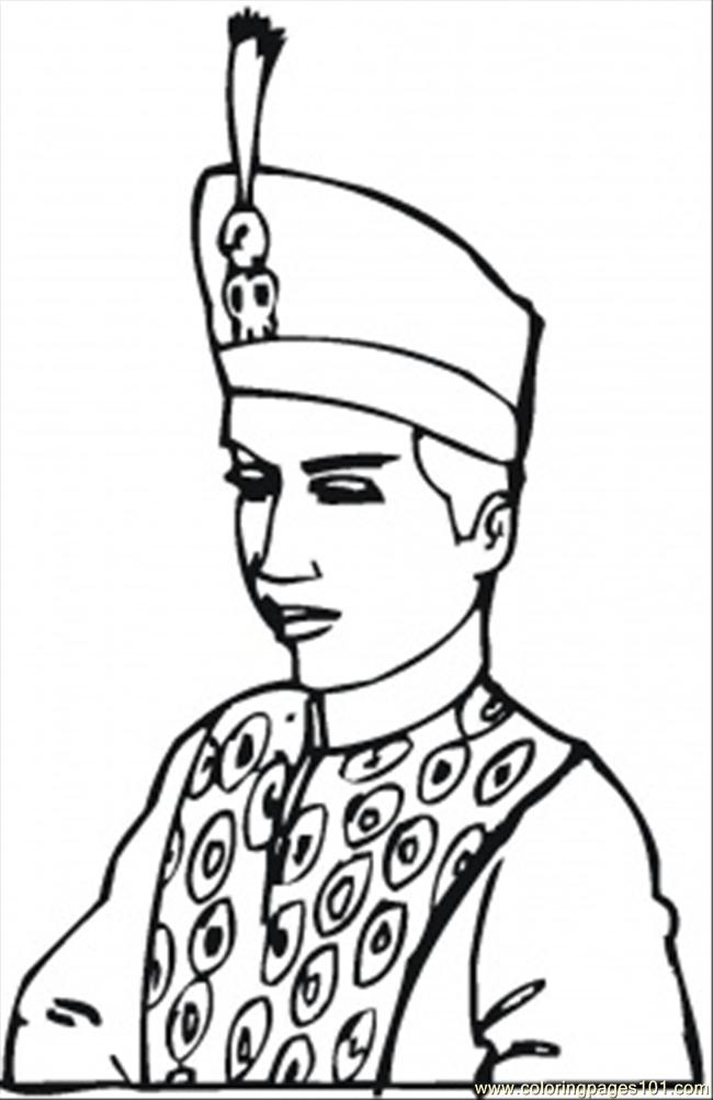 Coloring Pages King Of Indonesia (Peoples > Royal Family