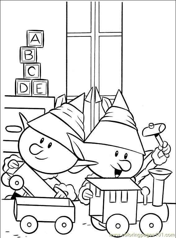 Coloring Pages Rudolph 006 (1) (Cartoons > Rudolph the Red