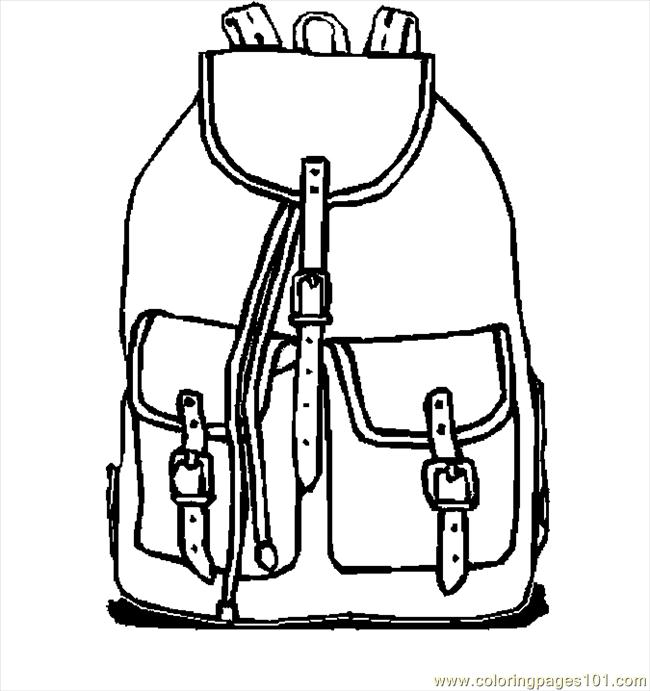 School Bag Coloring Coloring Coloring Pages