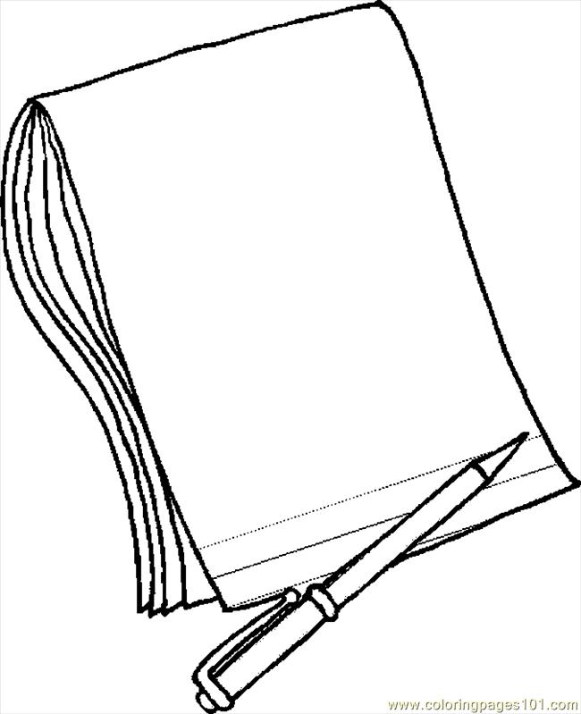 Coloring Pages Pencil & Paper 2 (Education > School