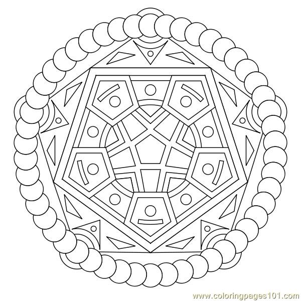Pentagon Coloring Page Free Printable Shapes Pages For