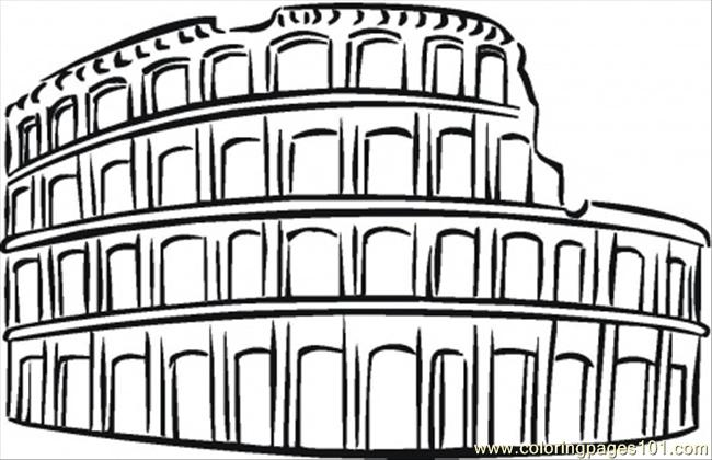 Coloring Pages Colosseum (Architecture > Sightseeing