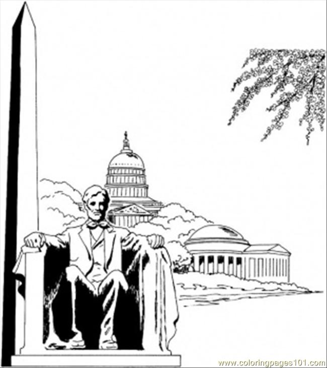 Coloring Pages Washington Monument (Architecture