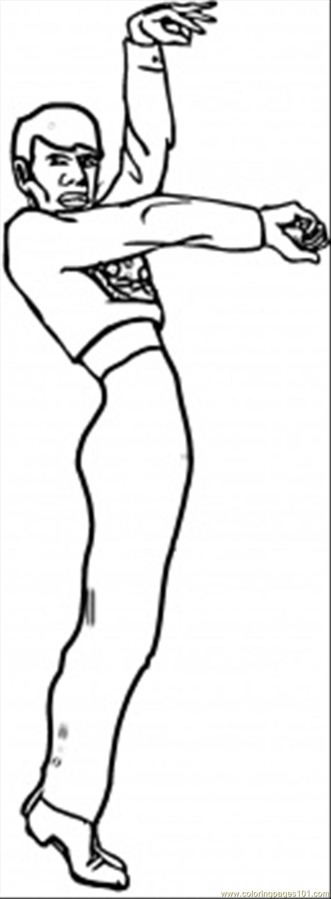 Coloring Pages Spanish Man Dancer (Countries > Spain
