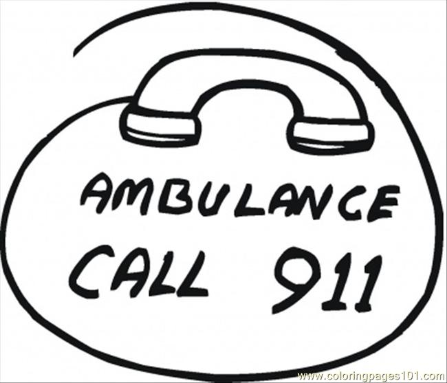 911 Emergency Coloring Pages Coloring Pages