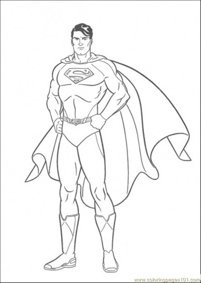 Coloring Pages The Picture Of Superman (Cartoons