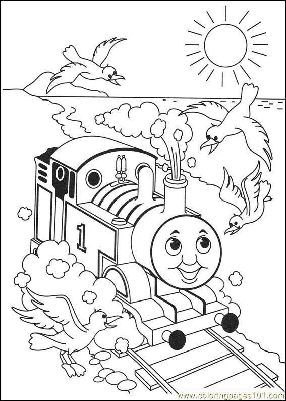 Thomas The Train Engine Color Pages, Thomas, Free Engine