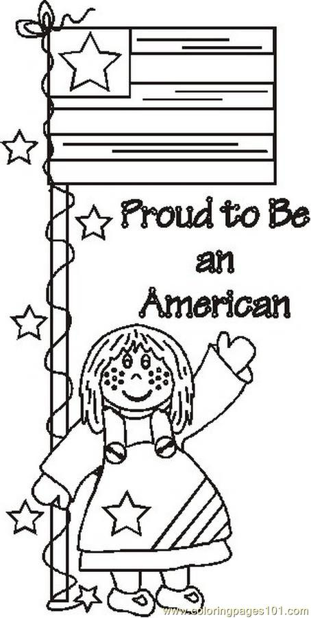 Coloring Pages Proudtobeamericanbw (Countries > USA