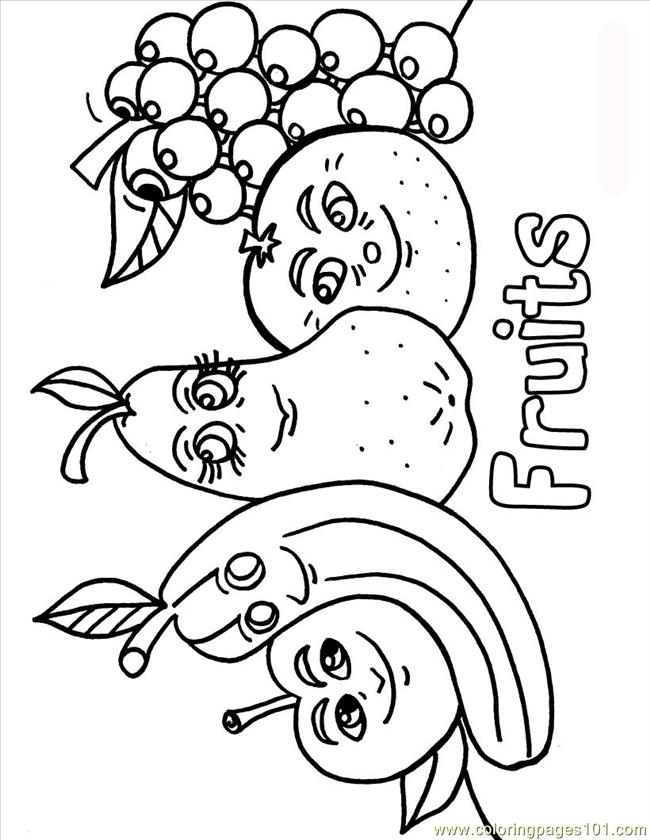 Coloring Pages Fruits Source 0po (Natural World