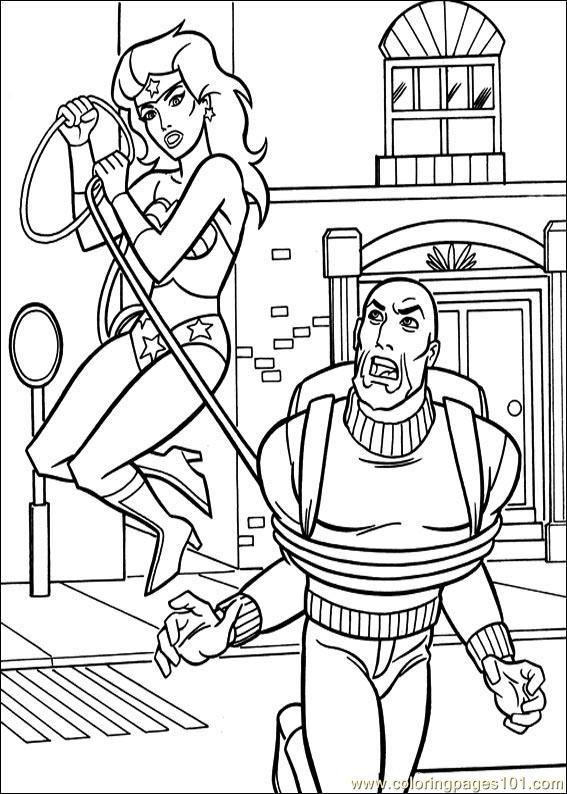 Coloring Pages Wonder Woman 43 (Cartoons > Wonder Woman