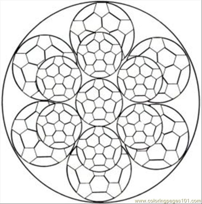 Quilt Kaleidoscope Coloring Page Coloring Pages