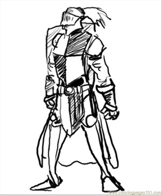 Knight Horse05 Coloring Page