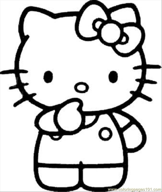 Kitty25 Coloring Page Free Hello Kitty Coloring Pages