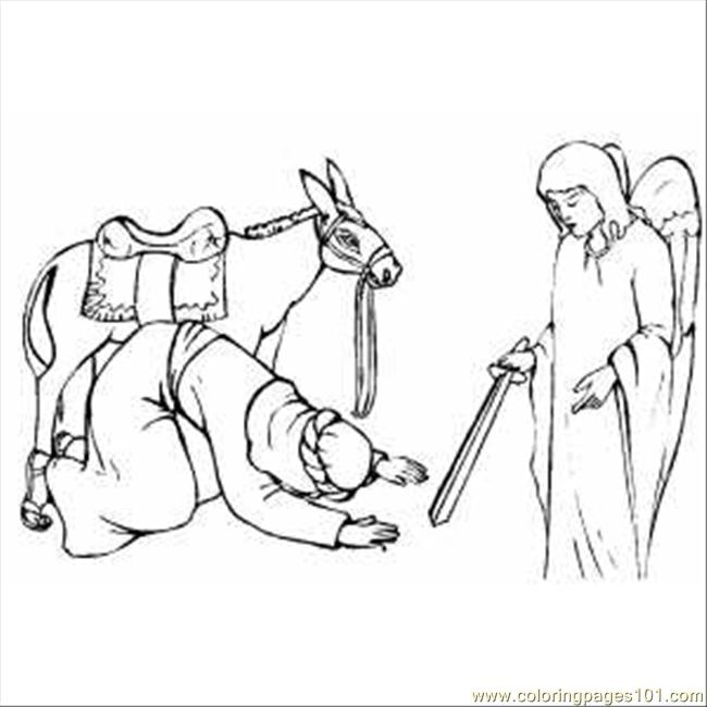 Balaams Donkey Colouring Pages Page 2 Sketch Coloring Page