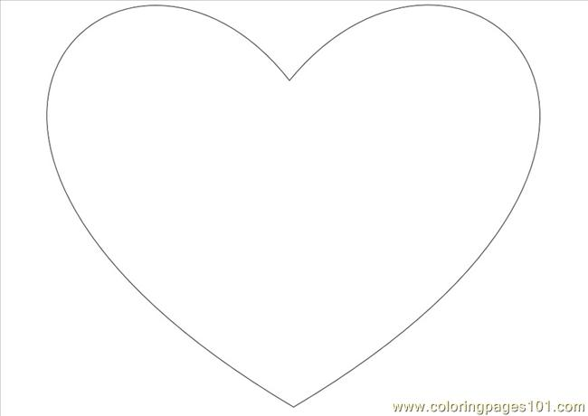 Simple Heart Dl10 Coloring Page Free Heart Coloring