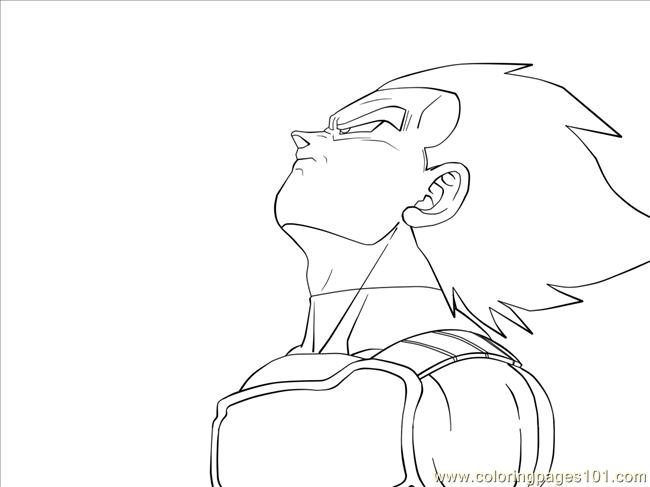 Vegeta By Carapau Coloring Page Free Vegeta Coloring