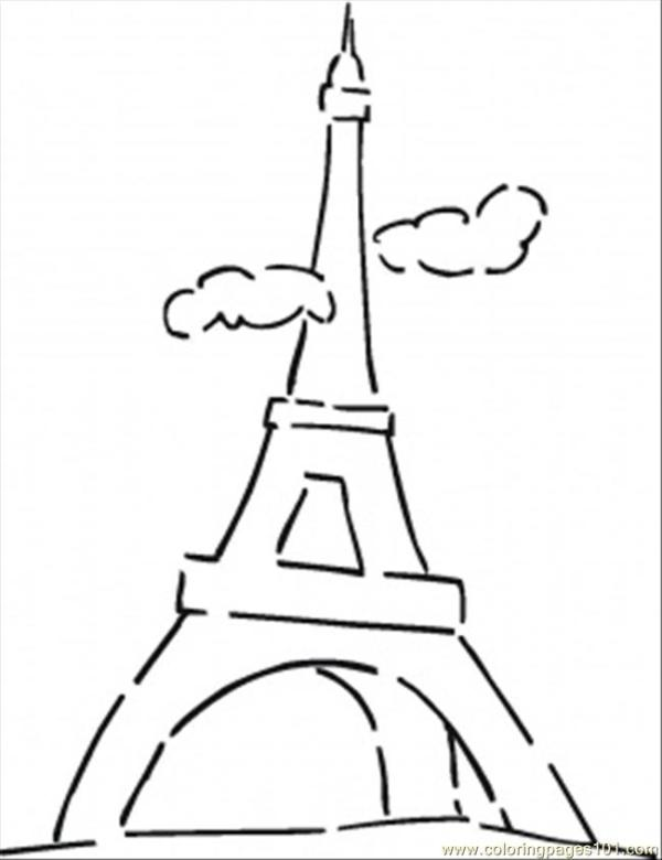 eiffel tower coloring pages # 81