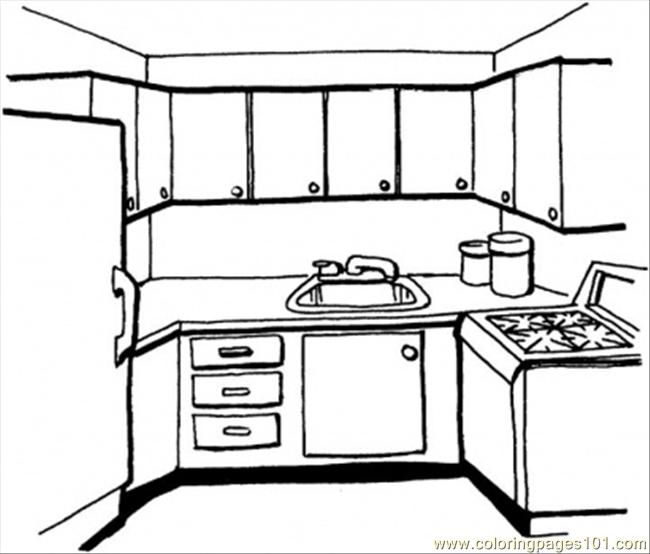 Kitchen Coloring Page  Free Kitchenware Coloring Pages  ColoringPages101com