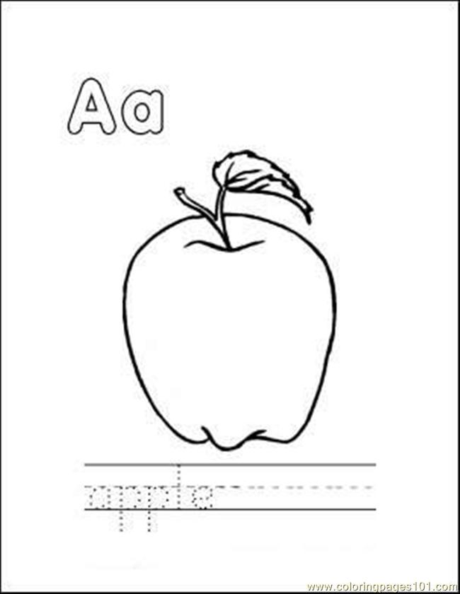 Apple Coloring Page Free Apples Coloring Pages Coloringpages101 Com