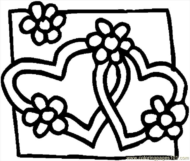 Hearts 08 Coloring Page