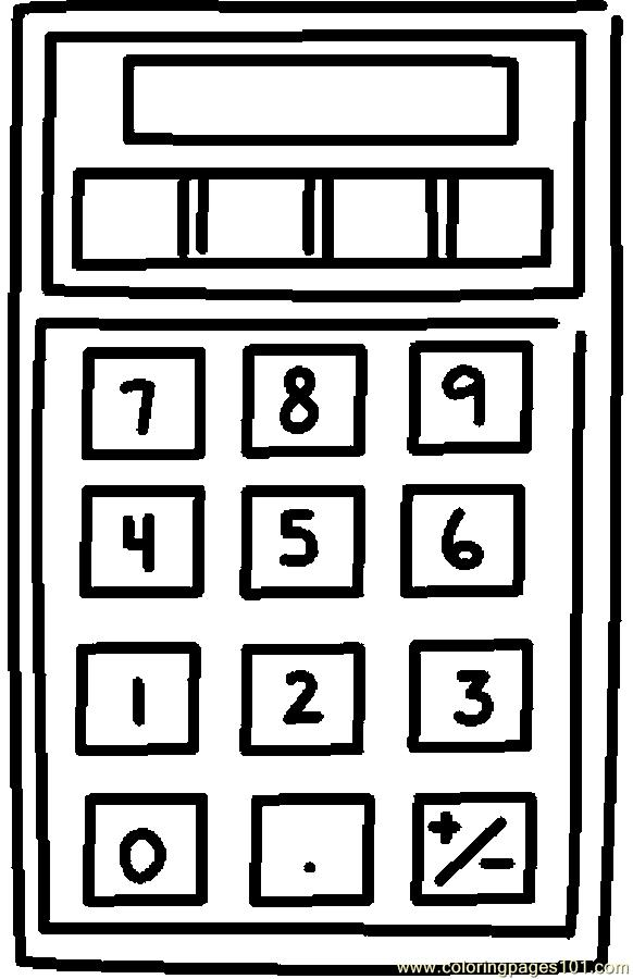 Black And White Clip Art School Calculater Pictures to Pin