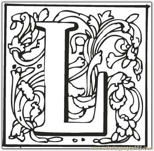 L Coloring Page Free Alphabets Coloring Pages