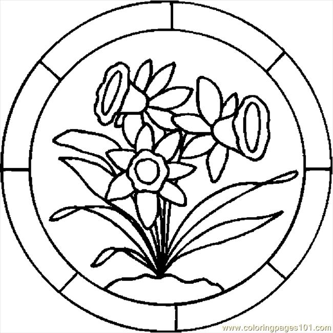 Easter Lily 7 Coloring Page Free Holidays Pages