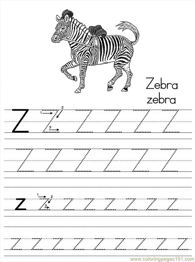 Alphabet Abc Letter Z Zebra Coloring Pages 7 Com Coloring