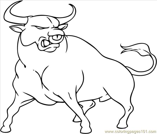 Bull Coloring Pages Printable